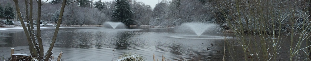 Wentworth Estate main lake in Winter